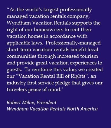 Wyndham weighs in on hotel attack on vacation rentals