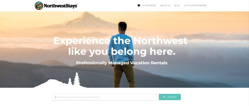northwest stays website direct booking vacation rental advertising marketplace