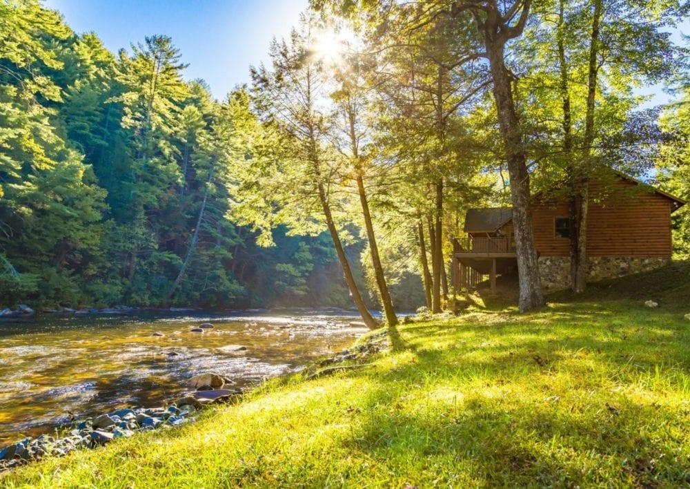 georgia mountain cabin rentals blue ridge riverfront vacation rental