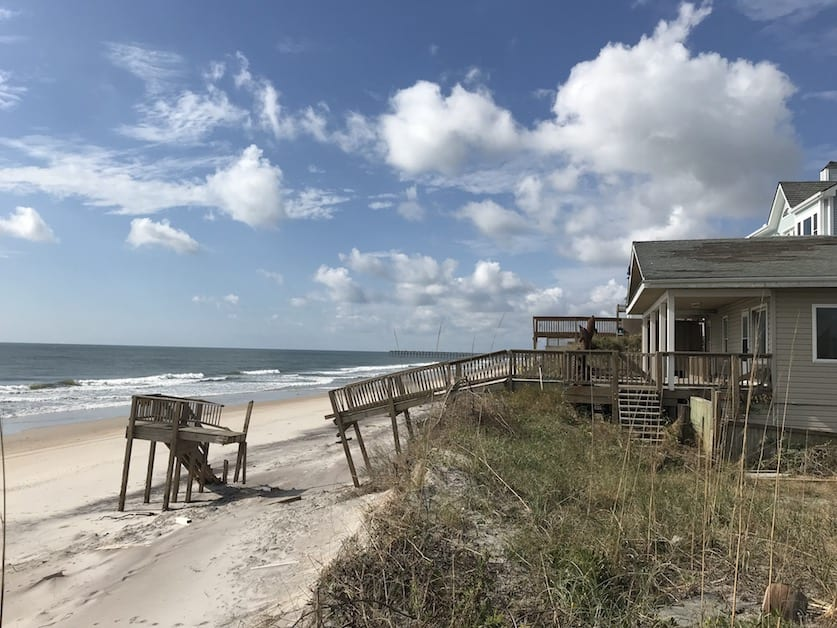 Beachfront home in Topsail, NC damaged in Hurricane Florence