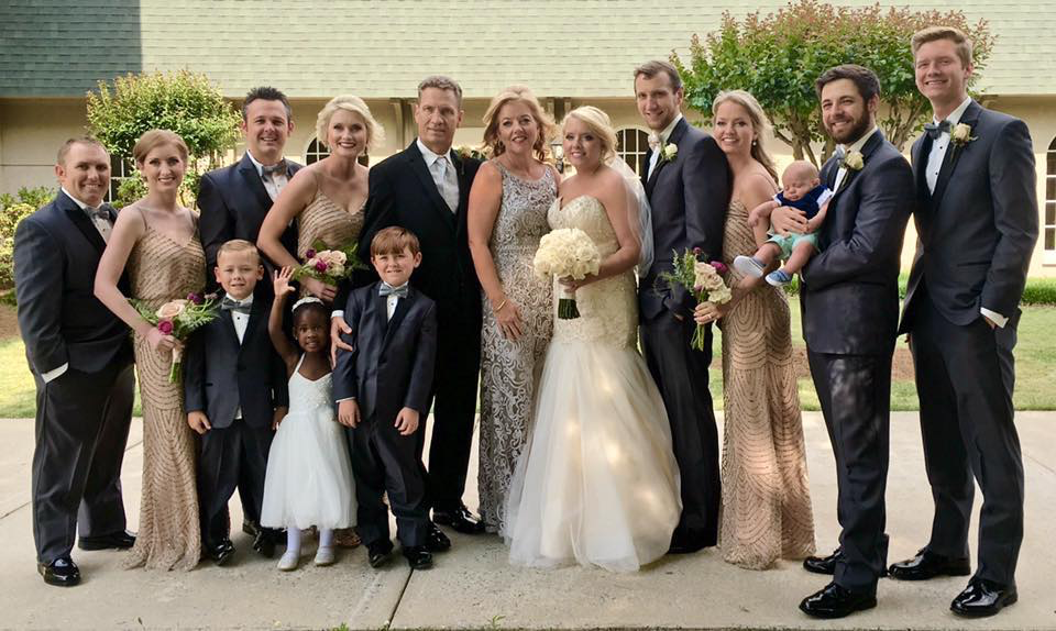 The Plimpton family at Rachel's wedding